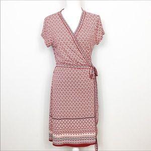 Adrienne Vittadini Wrap Tie American Dress